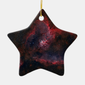 Heart Nebula Ceramic Star Ornament