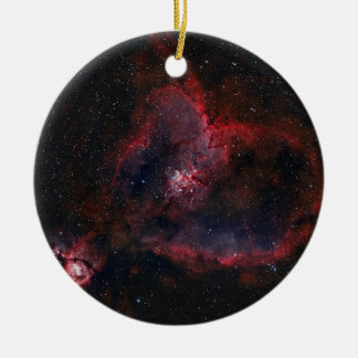 Heart Nebula Round Ceramic Ornament
