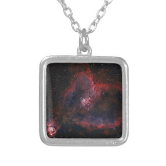 Heart Nebula Silver Plated Necklace