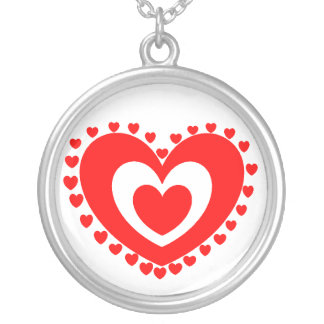 Heart neckless silver plated necklace