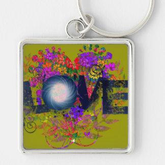 Heart Nestled Love Keychain