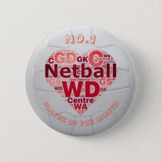 Heart Netball Player Reward Pin Badge