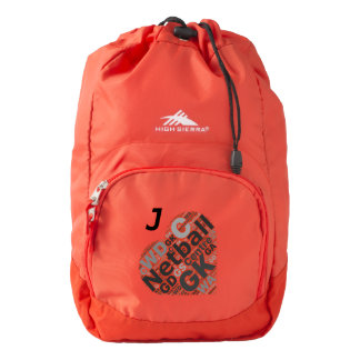 Heart Netball Team Typography Personalised Backpack
