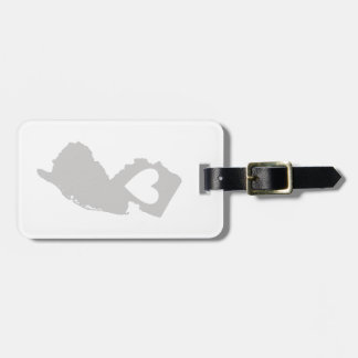 Heart New Jersey state silhouette Luggage Tag