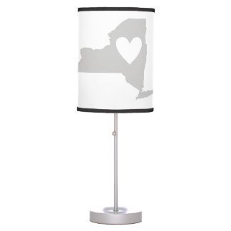 Heart New York state silhouette Table Lamp