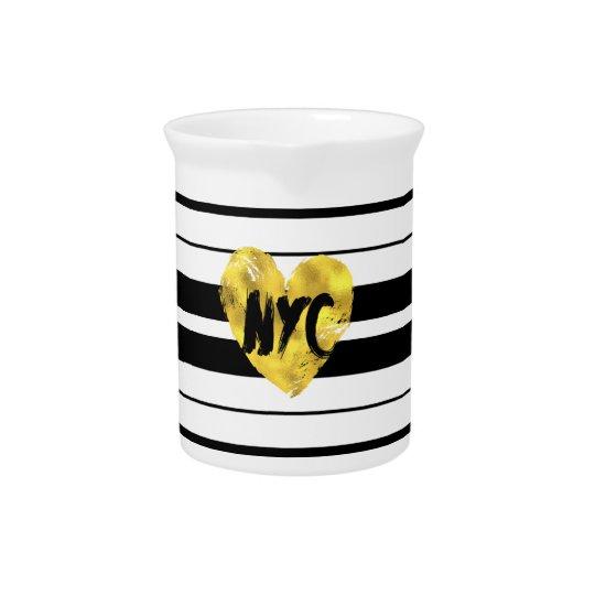 Heart New York, Striped Pitcher