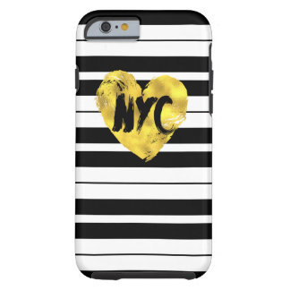 Heart New York, Striped Tough iPhone 6 Case