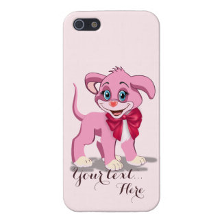 Heart Nose Pink Puppy Cartoon iPhone 5/5S Cover