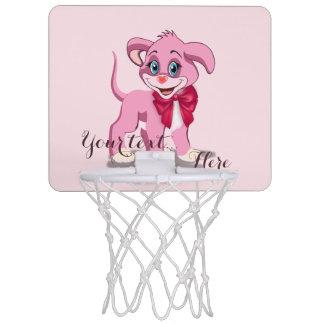 Heart Nose Pink Puppy Cartoon Mini Basketball Hoop