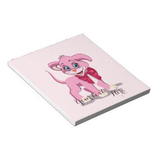 Heart Nose Pink Puppy Cartoon Notepad