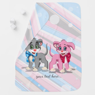 Heart Nose Puppies Cartoon Baby Blanket