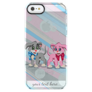 Heart Nose Puppies Cartoon Clear iPhone SE/5/5s Case