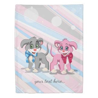 Heart Nose Puppies Cartoon Duvet Cover