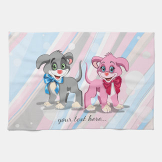 Heart Nose Puppies Cartoon Kitchen Towel