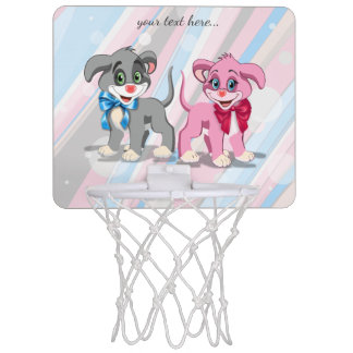 Heart Nose Puppies Cartoon Mini Basketball Hoop