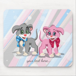 Heart Nose Puppies Cartoon Mouse Pad
