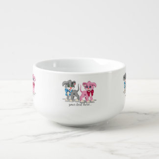 Heart Nose Puppies Cartoon Soup Mug