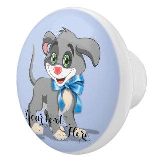 Heart Nose Puppy Cartoon Ceramic Knob