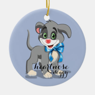 Heart Nose Puppy Cartoon Ceramic Ornament