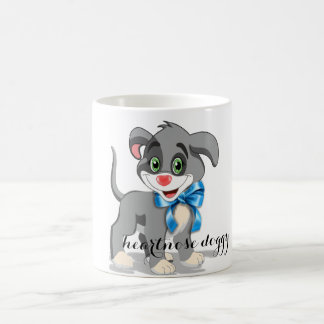 Heart Nose Puppy Cartoon Coffee Mug