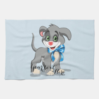 Heart Nose Puppy Cartoon Kitchen Towel