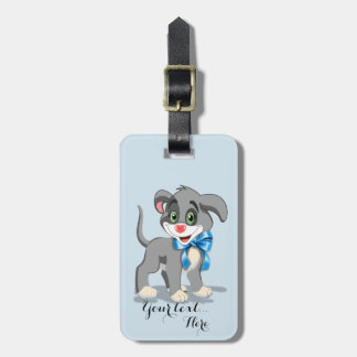 Heart Nose Puppy Cartoon Luggage Tag