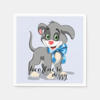 Heart Nose Puppy Cartoon Napkin
