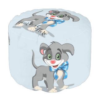 Heart Nose Puppy Cartoon Pouf