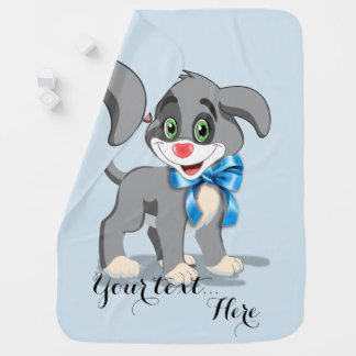 Heart Nose Puppy Cartoon Stroller Blankets