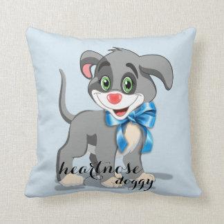 Heart Nose Puppy Cartoon Throw Pillow