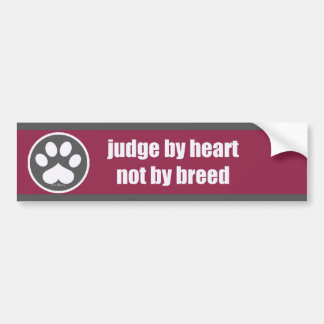 Heart Not Breed - Rsp/Gry Bumper Sticker