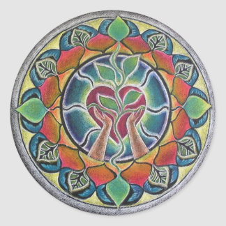 Heart Nurturing Mandala Sticker