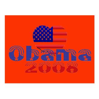 'Heart' Obama 2008 Postcard