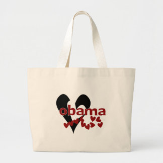 Heart Obama Large Tote Bag