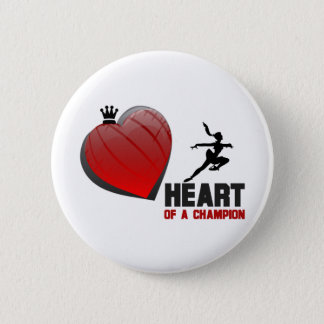 Heart of a Champion Ice Skating 2 Inch Round Button