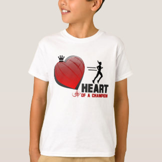 Heart Of A Champion Lady Runner T-Shirt