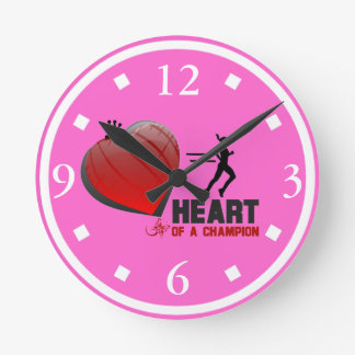 Heart Of A Champion Lady Runner Wall Clock