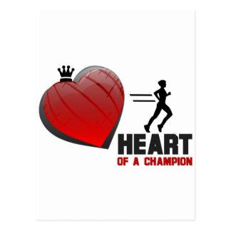 Heart of a Champion Running Postcard