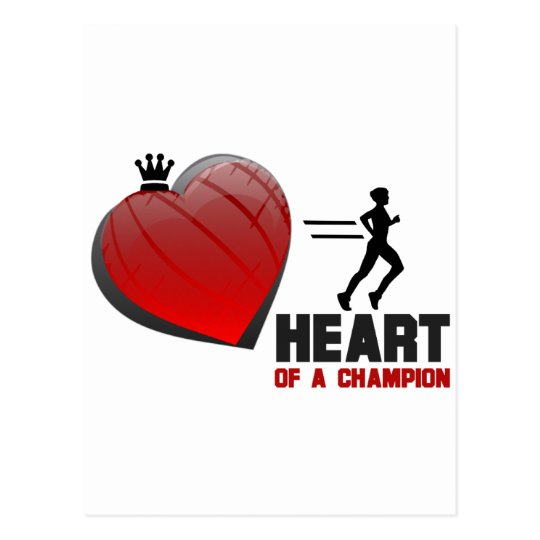 Heart of a Champion Running Postcard
