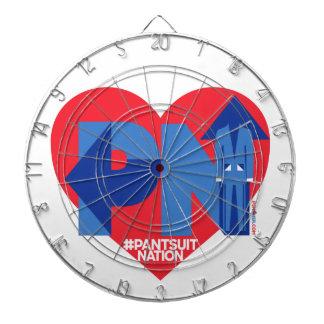 Heart of a Pantsuit Nation Dartboard