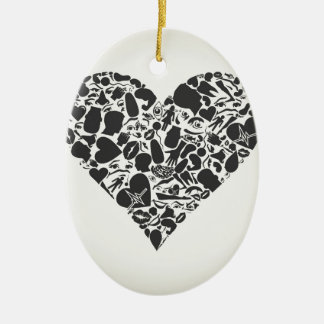 Heart of a part of a body ceramic ornament