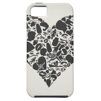 Heart of a part of a body iPhone 5 cases