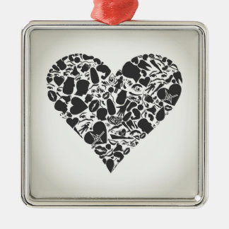 Heart of a part of a body metal ornament