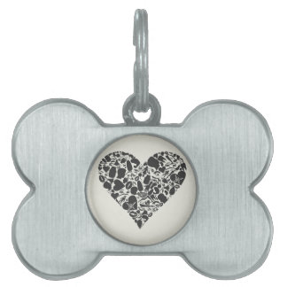 Heart of a part of a body pet name tag