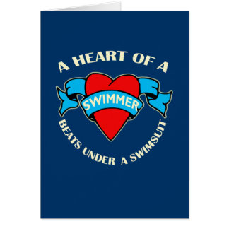 Heart of a Swimmer Card