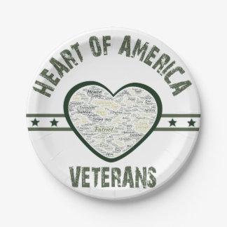 Heart of America - Veterans 7 Inch Paper Plate