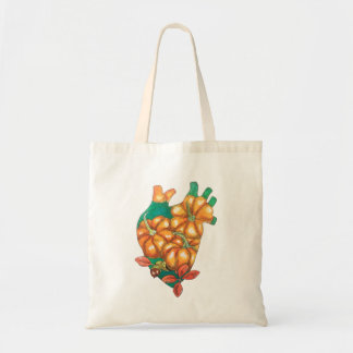 heart of autumn tote bag