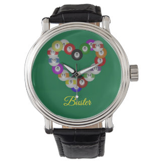 Heart of Billiards Pool Player Love Watch