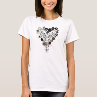 Heart of Buttons and Vines T-Shirt