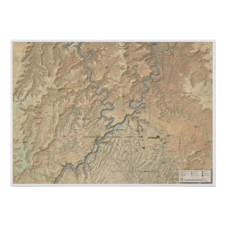 Heart of Canyonlands (Utah) map poster